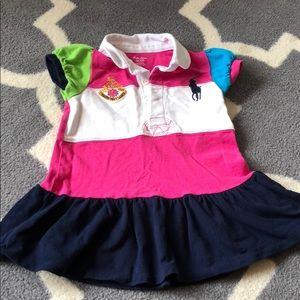 Block stripe Ralph Lauren dress &navy diaper cover